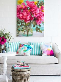 Spring In Living Room · Colorful Living RoomsBright Living Room DecorFresh  ...