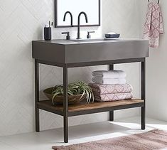 Shop Pottery Barn for single sink, double sink and custom bathroom vanities. Our bathroom vanities come in a variety of finishes and add functionality to any space. Vanity Cabinet, Vanity Sink, Bathroom Vanities, Vanity Tops, Bathroom Cabinets, Bathroom Ideas, Bathroom Organization, Sinks, Design Bathroom