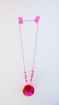 pom-pom necklace - studiodeseo