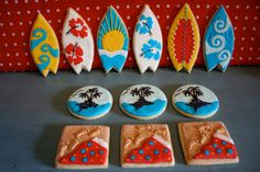 Surf Board Beach Cookies