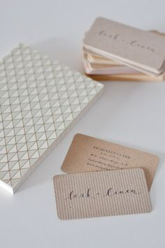 Stamped business cards - inexpensive and so lovely