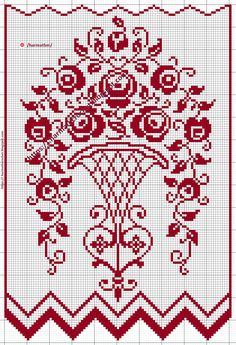 Cross Stitch Rose, Cross Stitch Borders, Cross Stitch Samplers, Cross Stitch Flowers, Cross Stitch Designs, Cross Stitch Embroidery, Crochet Bobble, Crochet Squares, Cross Stitch Patterns