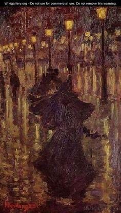 Evening Shower Paris - Henri De Toulouse-Lautrec