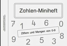 Zahlen-Miniheft Teil 2 – Materialwerkstatt - New Site Education Major, Elementary Education, Education Quotes, High School Classroom, Special Education Classroom, Early Intervention Program, Self Contained Classroom, Exercise Book, Student Information