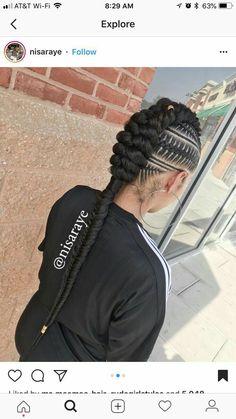 Speciale Vlechten Hair In 2019 Braided Hairstyles Feed In Braids Hairstyles, My Hairstyle, African Hairstyles, Braided Hairstyles, 4 Braids, Hairstyle Ideas, 2 Feed In Braids, Cornrows Updo, Viking Braids