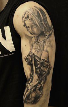 Artist - Anton Dainecko Virgin Mary,Jesus tattoo religion
