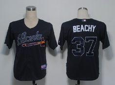 MLB Atlanta Braves #37 BEACHY DARK BLUE JERSEY FJ
