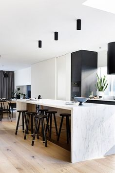 Elwood Townhouse | A Winning Combination Of Concrete, Timber & Marble