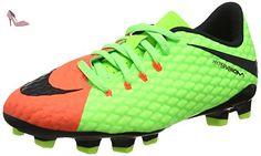 free shipping 0a72e 3e72b Nike Hypervenom Phelon Iii Fg, Chaussures de Football Mixte Enfant, Vert  (Elctrc Green