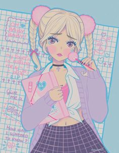 Baby one more time - Art Print from Shiroi ♥ Room Pastel Goth Art, Pastel Grunge, Happy Tree Friends, Kawaii Art, Kawaii Anime, Manga Anime, Anime Art, Tres Belle Photo, Image Manga