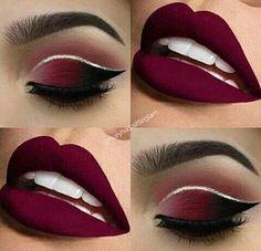 Eye Makeup Tips – How To Apply Eyeliner – Makeup Design Ideas New Year's Makeup, Red Lip Makeup, Glitter Eye Makeup, Eye Makeup Tips, Cute Makeup, Gorgeous Makeup, Makeup Eyeshadow, Makeup Ideas, Purple Eyeshadow