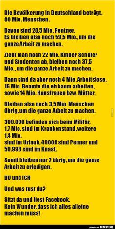 Die Bevölkerung in Deutschland beträgt. 80 Mio...