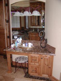 Knotty Alder custom made kitchen cabinets, etc.