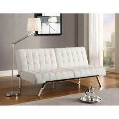Convertible Sofa Sleeper Bed Faux Leather   Futon Couch Living Room Furniture