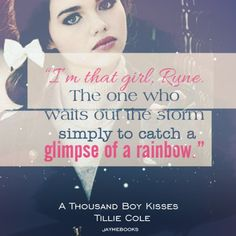 Goodreads | Jayme's review of  A Thousand Boy Kisses by Tillie Cole