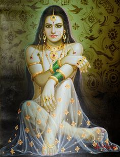 Lady At The Well, Oils Oil Painting on CanvasArtist: Anup Gomay Indian Women Painting, Indian Art Paintings, Oil Paintings, Indian Artwork, Indian Goddess, Goddess Art, India Art, Dance Art, Online Painting
