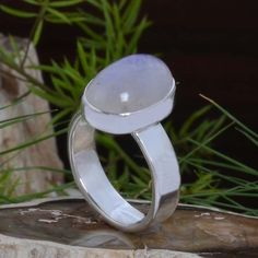 HOT SELLING 925 SOLID STERLING SILVER Moonstone RING 5.71g DJR10893 SZ-6 #Handmade #Ring