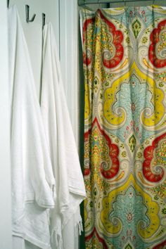 I really wish I had a bathroom of my own to hang this shower curtain that I always want to buy at work.