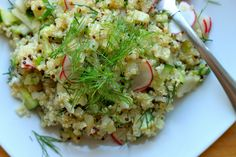 grilled fennel and quinoa salad + dudes