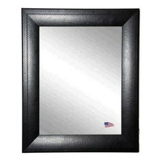 Rayne Mirrors - USA Made Luxurious Black Detailed Wall Mirror - A bold and gorgeous mirror can be the focal point of a room.  Hang this dist...