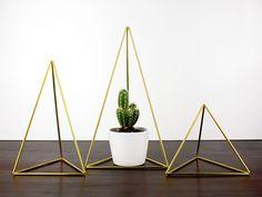 Deko-Objekte - Himmeli Geometrisch Messing Deko Gruppe Mountains - ein Designerstück von RAUMATA bei DaWanda