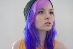 Blue / purple hair