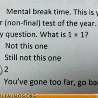 @Jeanne Mariconda Lancaster ... I think you should put this on a test just to see if they catch on :p