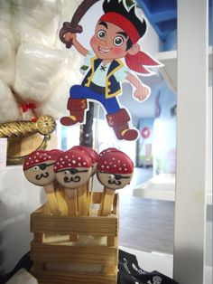 Adorable cookie pops at a Jake and the Neverland Pirates party!  See more party ideas at CatchMyParty.com!  #pirate #partyideas