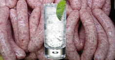You can now enjoy a boozy Full English breakfast without actually even having to make an alcoholic drink – as a butcher has come up with his very own range of alcohol-inspired sausages, which include flavours such as pear cider and gin and tonic. Pear Cider, Best Gin, Food Trends, Gin And Tonic, Sausages, Sausage Recipes, Alcoholic Drinks, Weird, Canning