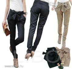 women's Skinny Long Trousers OL casual Bow-knot harem fashion slim Comfy pants Black Khaki Pants, Black Skinnies, Comfy Pants, Casual Pants, Leggings Are Not Pants, Skinny Pantalon, Casual Chic, Tory Burch, Nike Football