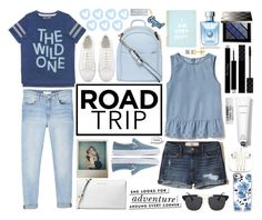 """""""Road Trip"""" by sheetal2002 ❤ liked on Polyvore featuring MANGO, Gap, Hollister Co., Madewell, Dorothy Perkins, Casetify, PhunkeeTree, PINTRILL, Rodin Olio Lusso and Gucci"""