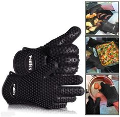 Use Proper Tools when dealing with Hot Surfaces! This glove is BPA Free, Food Grade Silicone. That means it is safe to touch food directly. The glove is made ou