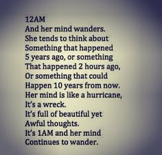 And her mind wanders