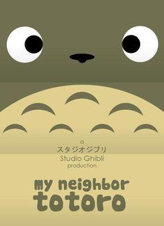 Miyazaky Minimal movie poster: My Neighbor Totoro by Craig McKeown