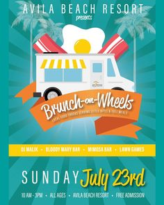 Avila Beach's oceanside Brunch on Wheels is just around the corner!  We have the best of the county's local food trucks serving up specialized Brunch menus with the beach at your toes!  Featuring lawn games Music by DJ Malik and the ever popular Mimosa and Bloody Bars! Admission is still FREE! #AvilaBeach