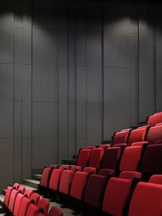 Image 82 of 151 from gallery of Acoustics and Auditoriums: 30 Sections to Guide Your Design. Photograph by Christian Richters Theatre Architecture, Interior Architecture, Interior Walls, Interior Design, Auditorium Design, Acoustic Wall, Adaptive Reuse, Home Theater Seating, Wall Design