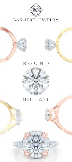 #RoundBrilliant beauty. Custom Engagement Rings by Bashert Jewelry. Dream the Dream!