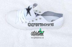 Low Top Fashion Tennis Shoes With Dallas Cowboys Logo White Nike Air Max Tn, Air Max 90, Dallas Cowboys Logo, Cowboy Outfits, Air Jordan Shoes, Keds, Nike Shoes, Tennis, Swarovski