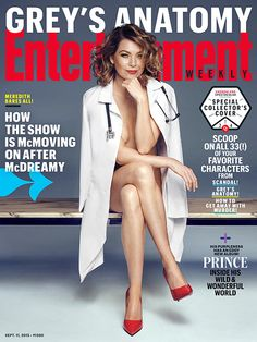 Can the doctor see me now? Ellen Pompeo basically bares it all on the new cover of 'Entertainment Weekly,' wearing nothing but some sexy red pumps and, of course, her signature white lab coat. You need to see this pic!