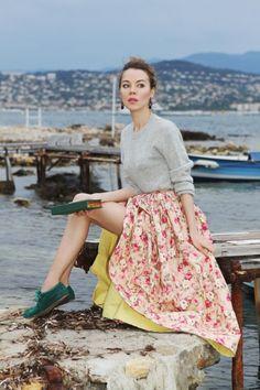Russian designer, socialite and street-style star Ulyana Sergeenko.