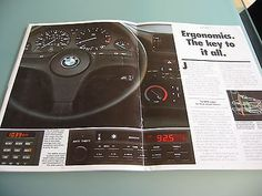 1988 BMW 325i Convertible Brochure E30 3 Series 325 i Conv't US Sales Catalog