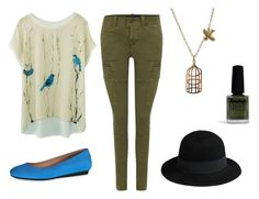 """""""The """"Casual Mia"""" Look (me)"""" by onewithbirds ❤ liked on Polyvore featuring Polo Ralph Lauren, Tod's, Jami, George J. Love, Limedrop, hat, birds and cargos"""