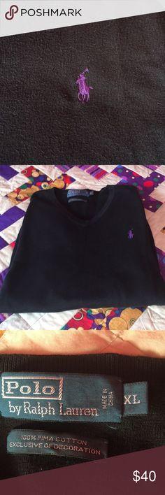 Men's Ralph Lauren black v neck sweater sz XL Men's RL black V neck sweater sz XL.  Good condition!! Polo by Ralph Lauren Sweaters V-Neck