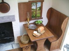 diy bench, table and stool - interesting discussion of methods, pictures and ideas to use Michael's hutches