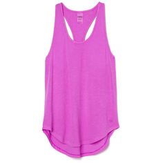 Essential Racerback Tank ($20) ❤ liked on Polyvore featuring tops, racerback tank top, pink singlet, pink tank, slouchy tank top and layering tank tops