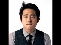 """Steven Yeun from """"The Walking Dead"""". I love, love, love him on the show. If his character gets eaten by zombies, I will never watch the show again. Glenn The Walking Dead, Walking Dead Actors, Steven Yeun, Raining Men, Film Serie, Daryl Dixon, Attractive Men, Famous Faces, Famous Men"""
