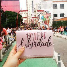 Bairro Liberdade, São Paulo. Brushpen Calligraphy. Caligrafia Moderna.