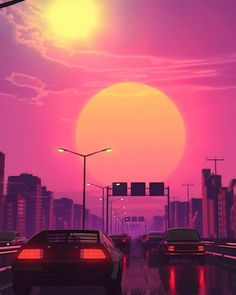 vaporwave sfondi All Synthwave retro and retrowave style of arts Trippy Wallpaper, Sunset Wallpaper, Anime Scenery Wallpaper, Retro Wallpaper, Aesthetic Iphone Wallpaper, Wallpaper Backgrounds, Aesthetic Wallpapers, Wallpaper Samsung, Neon Backgrounds