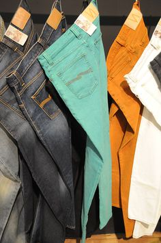 Men's Mint Green Jeans |**nudie jeans