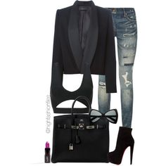 Street Elegance by highfashionfiles on Polyvore featuring Isabel Marant, Polo Ralph Lauren, Christian Louboutin and Hermès